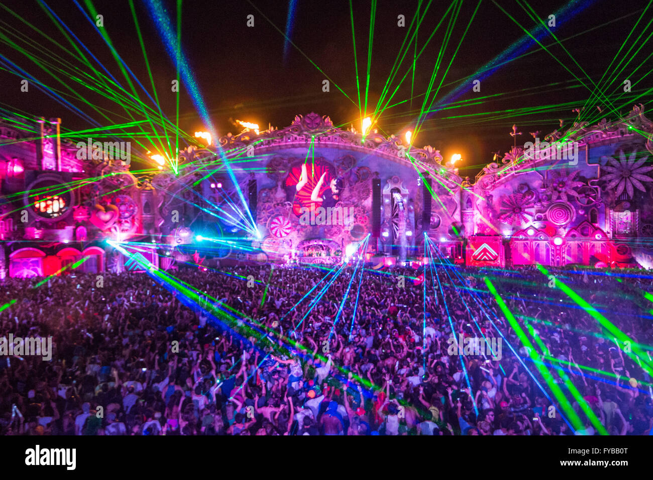 ITU, SP - 22.04.2016: TOMORROWLAND Brasilien 2016 - 2. Auflage von Tomorrowland Brasilien 2016, die internationale Stockbild