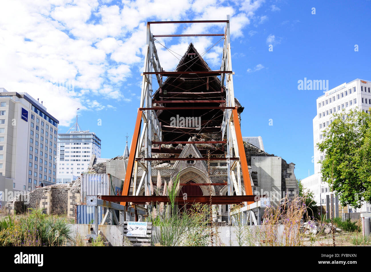 Ruinen Von Christchurch Cathedral Nach Erdbeben Cathedral Square Christchurch Region Canterbury Sudinsel Neuseeland Stockfotografie Alamy