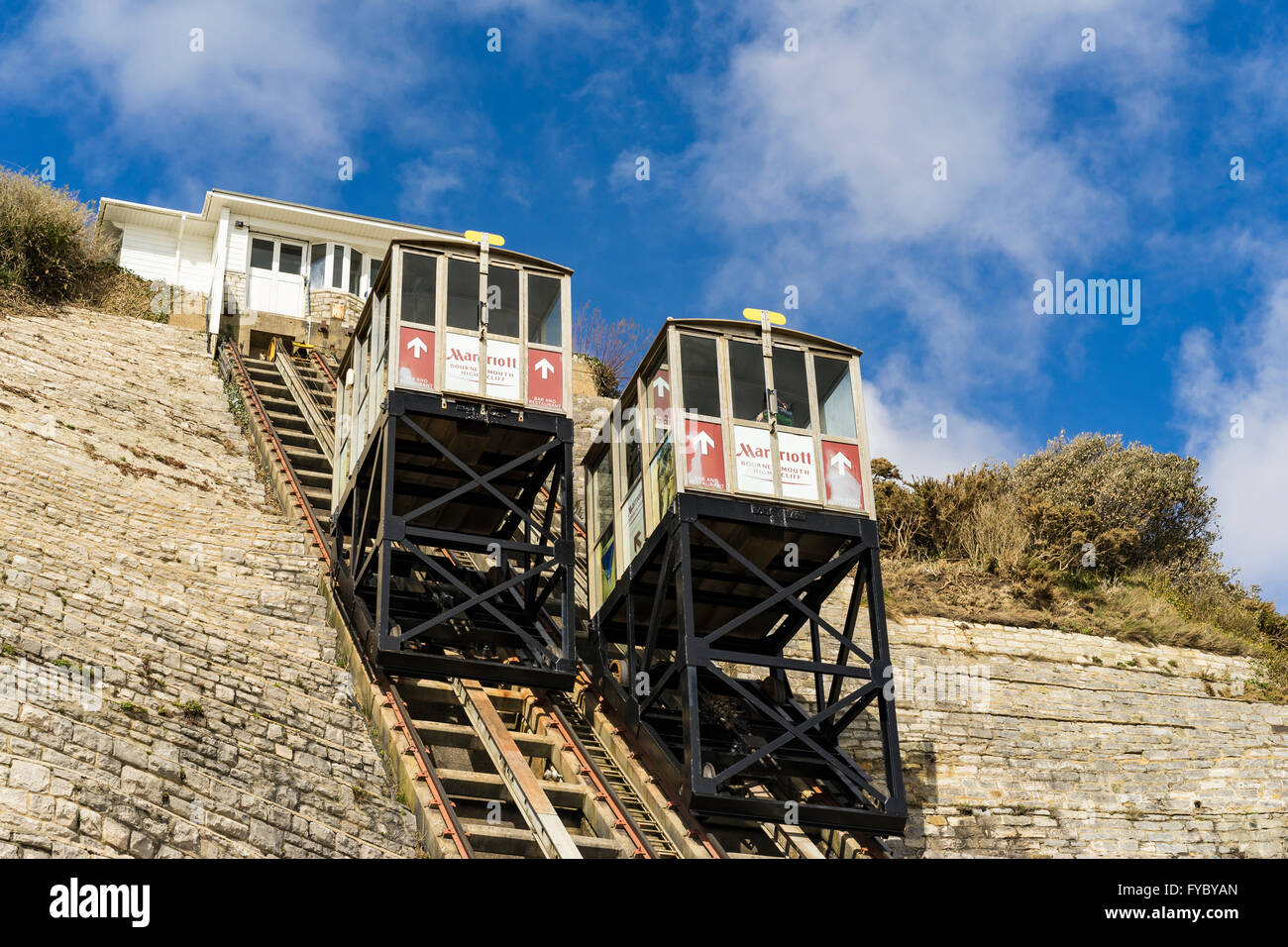 West Cliff Railway / West Cliff Lift, Bournemouth Stockfoto
