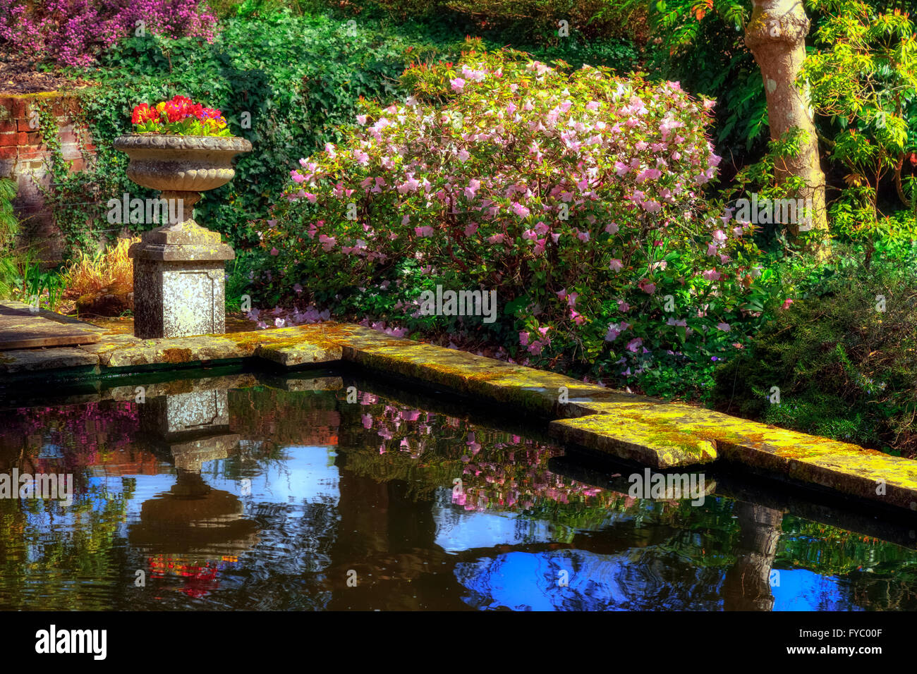 versunkene Garten in Hursley, Hampshire, England, UK Stockbild