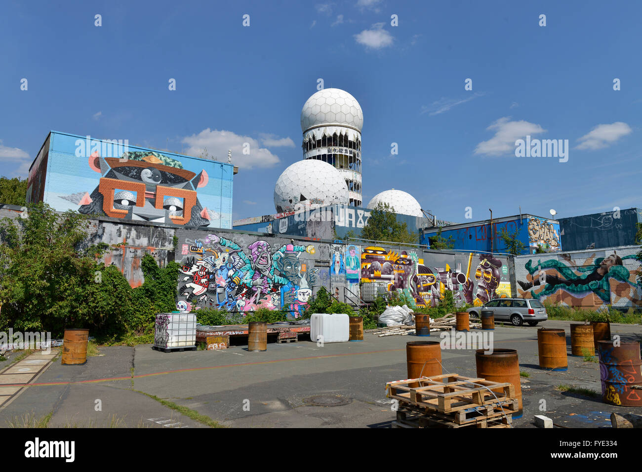 Abhoerstation, Teufelsberg, Grunewald, Berlin, Deutschland