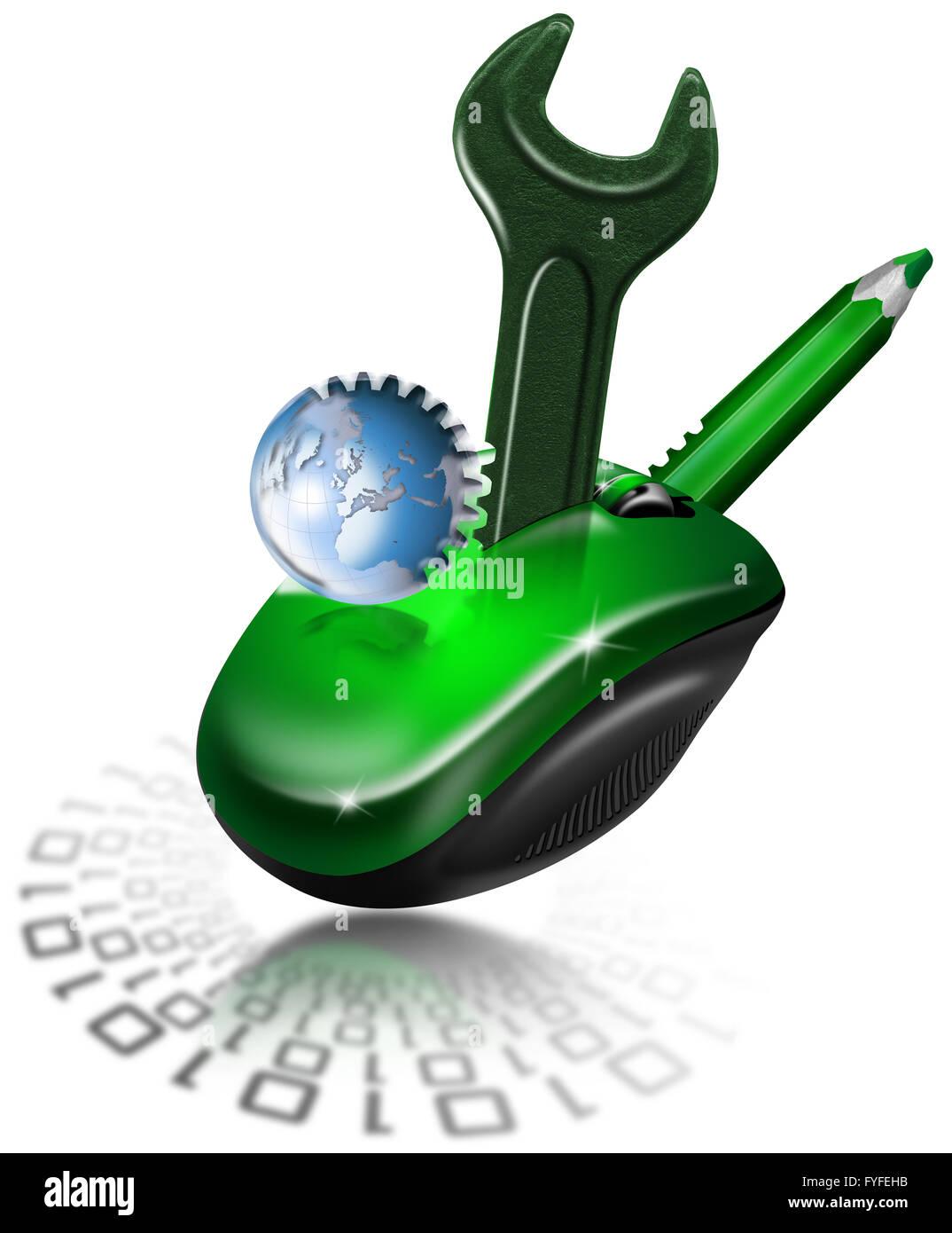 Mechanische Maus-design Stockbild