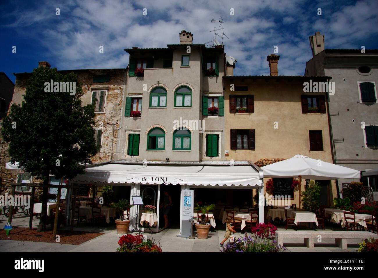 Altstadt, Grado, Italien. Stockbild