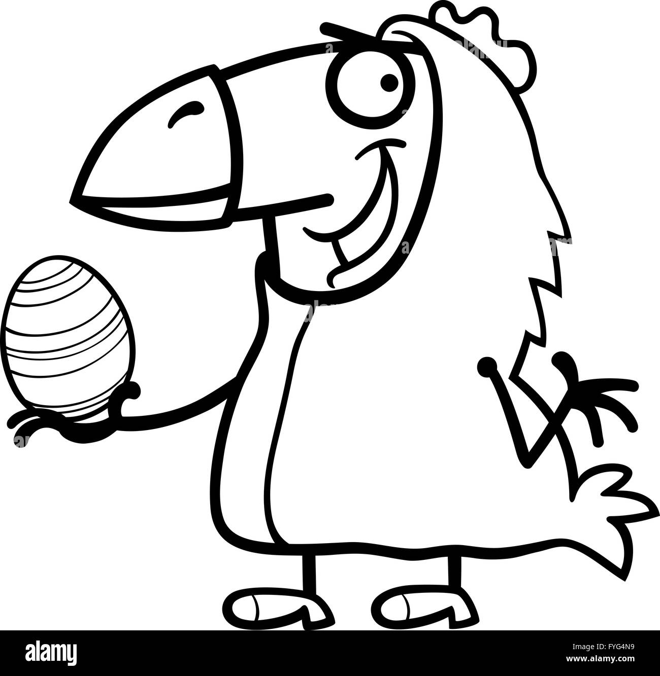 Cartoon Character Chicken Stockfotos & Cartoon Character Chicken ...