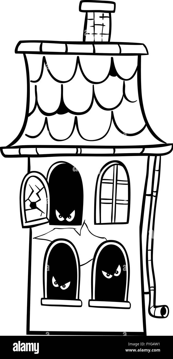 Cartoon Monster Coloring Book Stockfotos & Cartoon Monster Coloring ...
