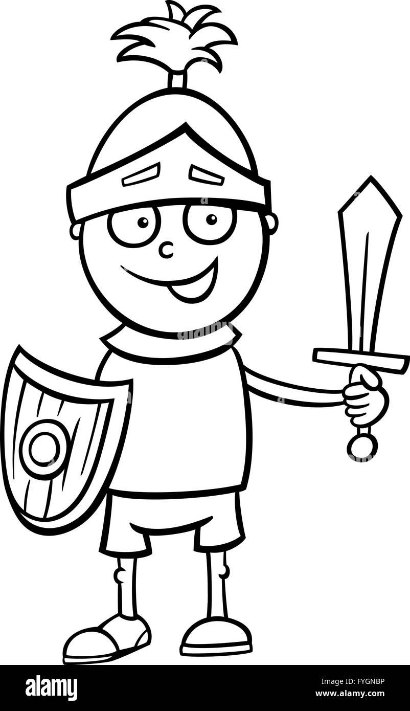 junge Ritter Kostüm Malvorlagen Stockfoto, Bild: 103015578 - Alamy