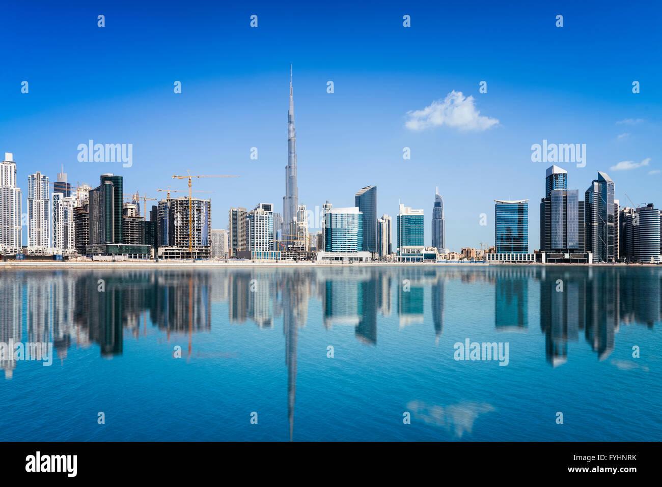Skyline von Dubai, Vereinigte Arabische Emirate Stockbild