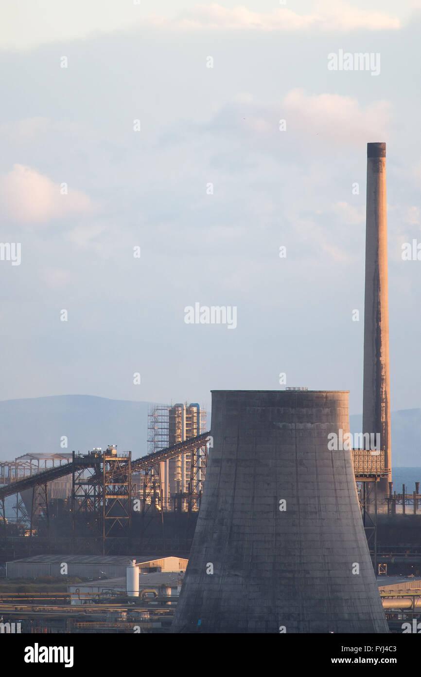 Tata Steel Stahlwerk in Port Talbot, South Wales. Das Stahlwerk wird für den Verkauf, die Hunderten von UK Arbeitsplätze gefährdet gestellt. Stockfoto