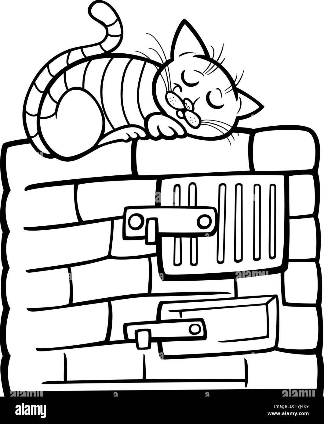 Katze auf Herd Cartoon Malvorlagen Stockfoto, Bild: 103046365 - Alamy
