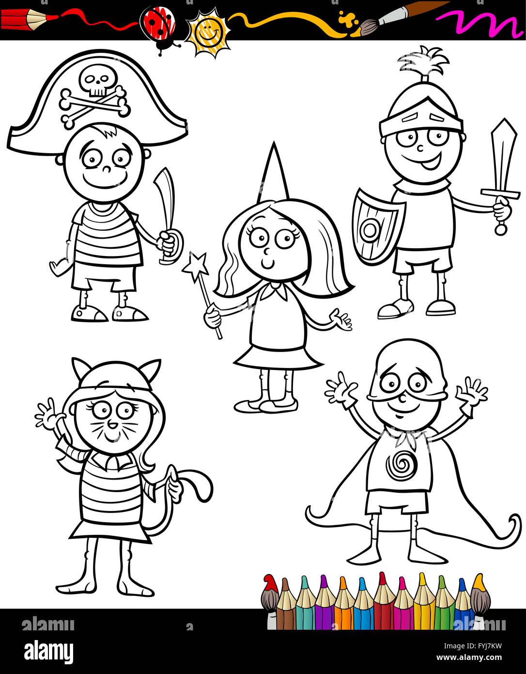 Knight Sword Cartoon Coloring Page Stockfotos & Knight Sword Cartoon ...