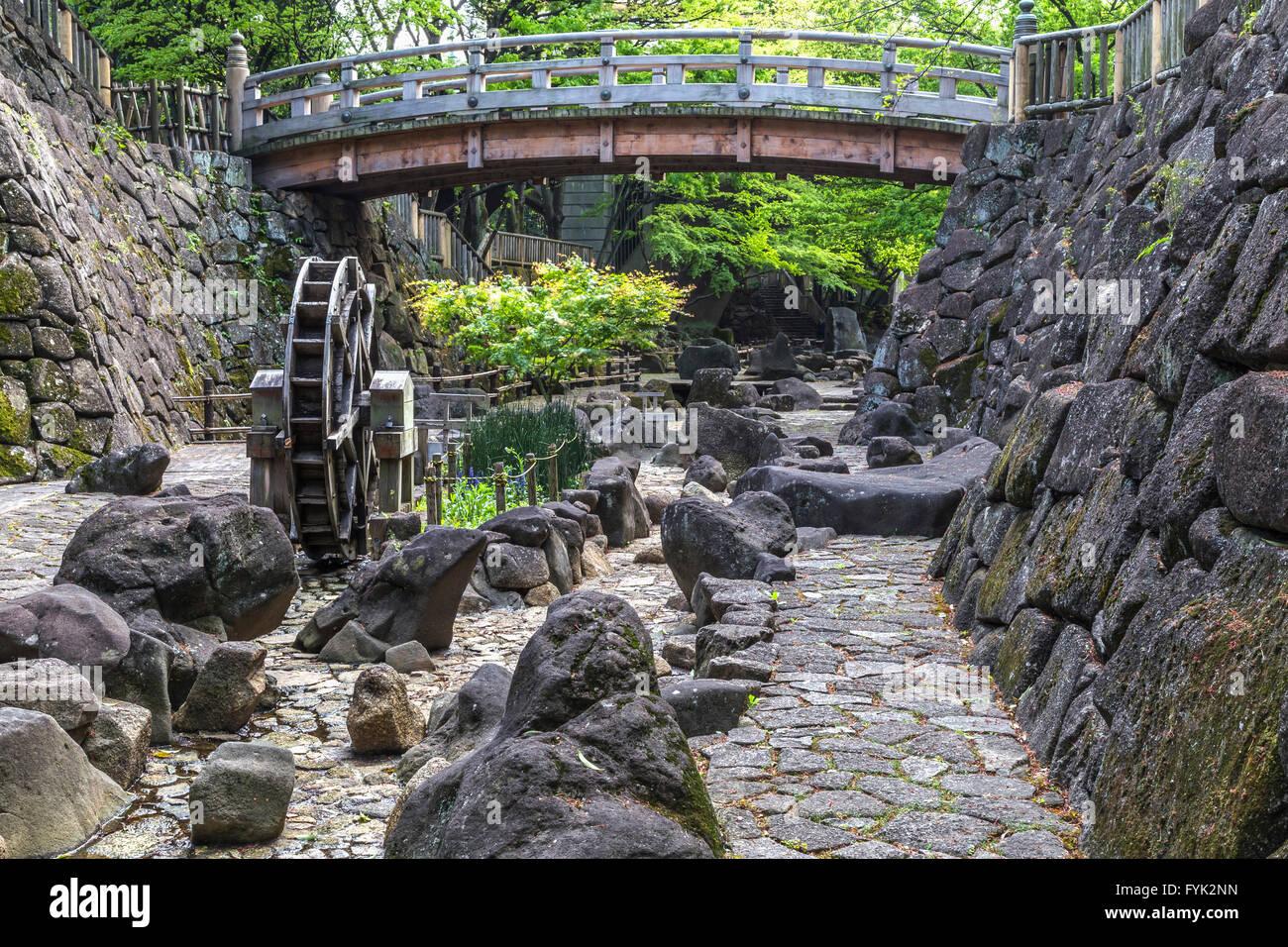 """Onashi Shinsui ist eines des Tokyos 'ein hundert berühmte Ansichten"""".  Geschmackvoll umgebaut von Stockbild"""