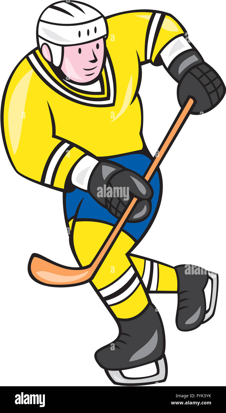 how to draw a hockey player cartoon