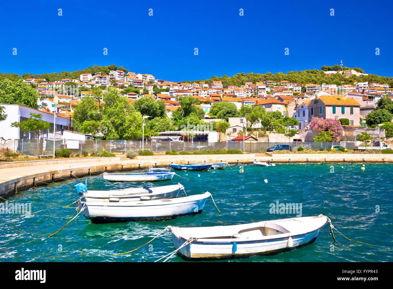 Bunte Küste Stadt Sibenik Stockbild