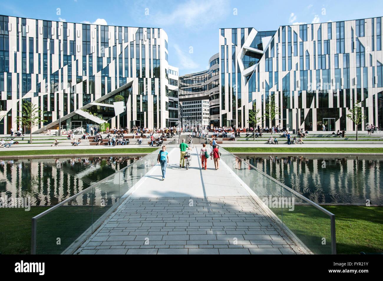 K bogen retail komplex des architekten daniel libeskind b rogeb ude und gesch fte d sseldorf - Architekten in dusseldorf ...