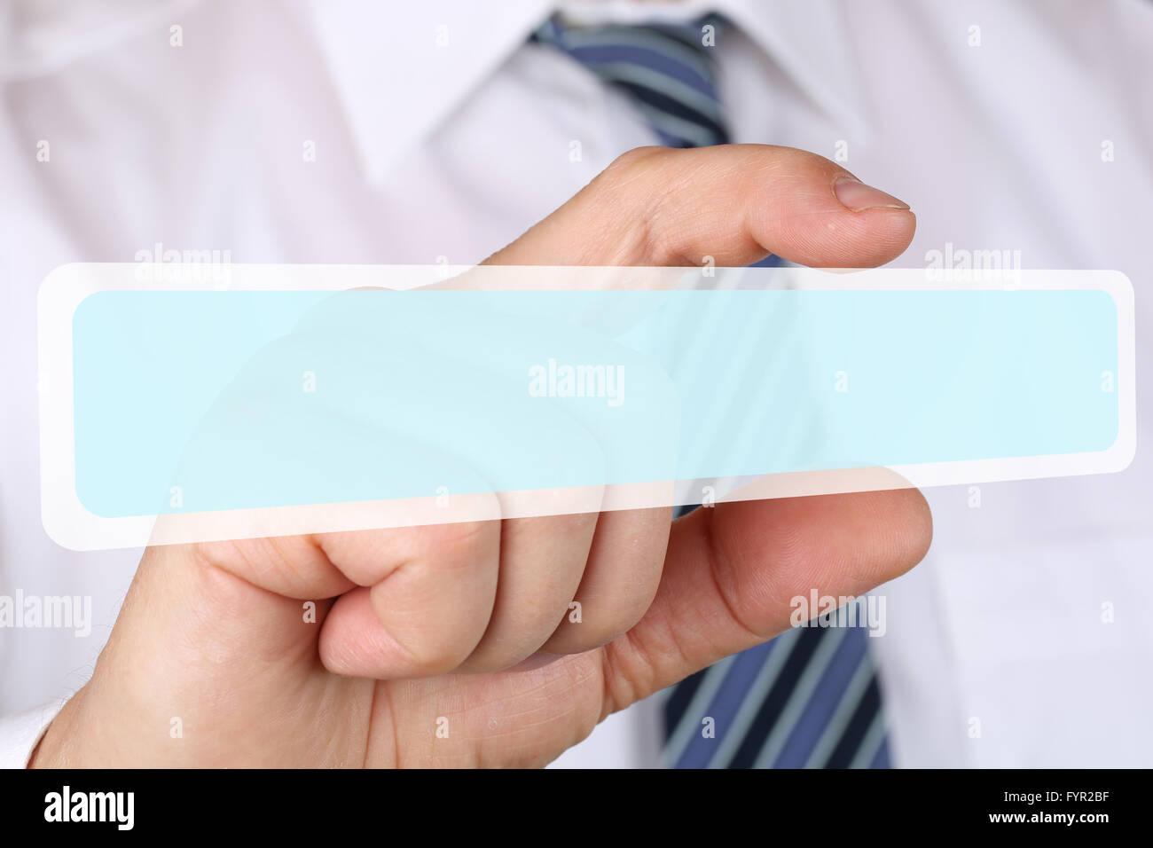 Business Mann Konzept Mit Textfreiraum Copyspace Stockbild