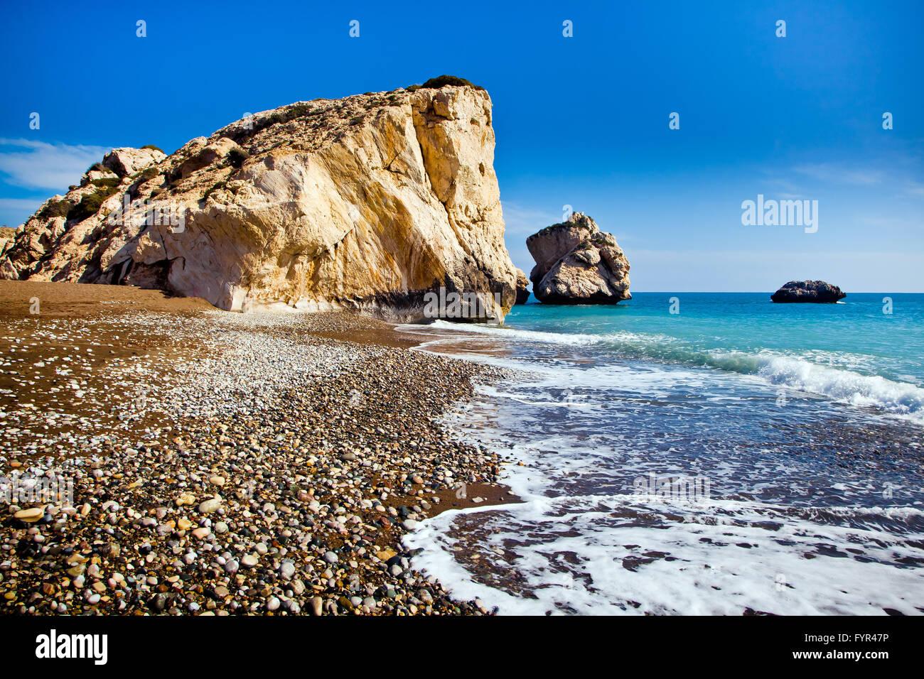 Aphrodites legendäre Geburtsort in Paphos, Zypern Stockbild
