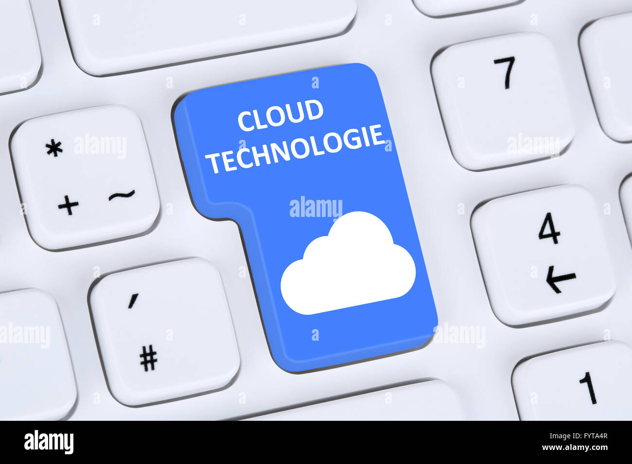 Symbol-Cloud-Computing-Technologie-Technologie Im Internet Stockbild