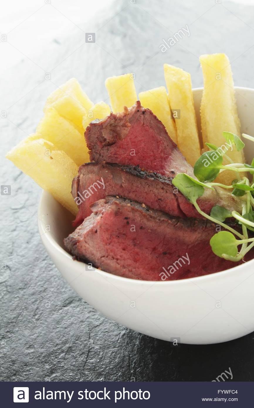 Steak-dinner Stockbild