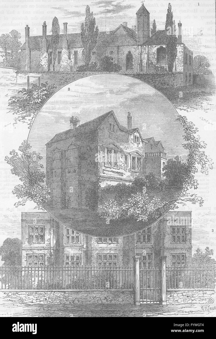 ALTEN HACKNEY: Brook House, 1765; Barbers Scheune, 1750; Ufer Ort,