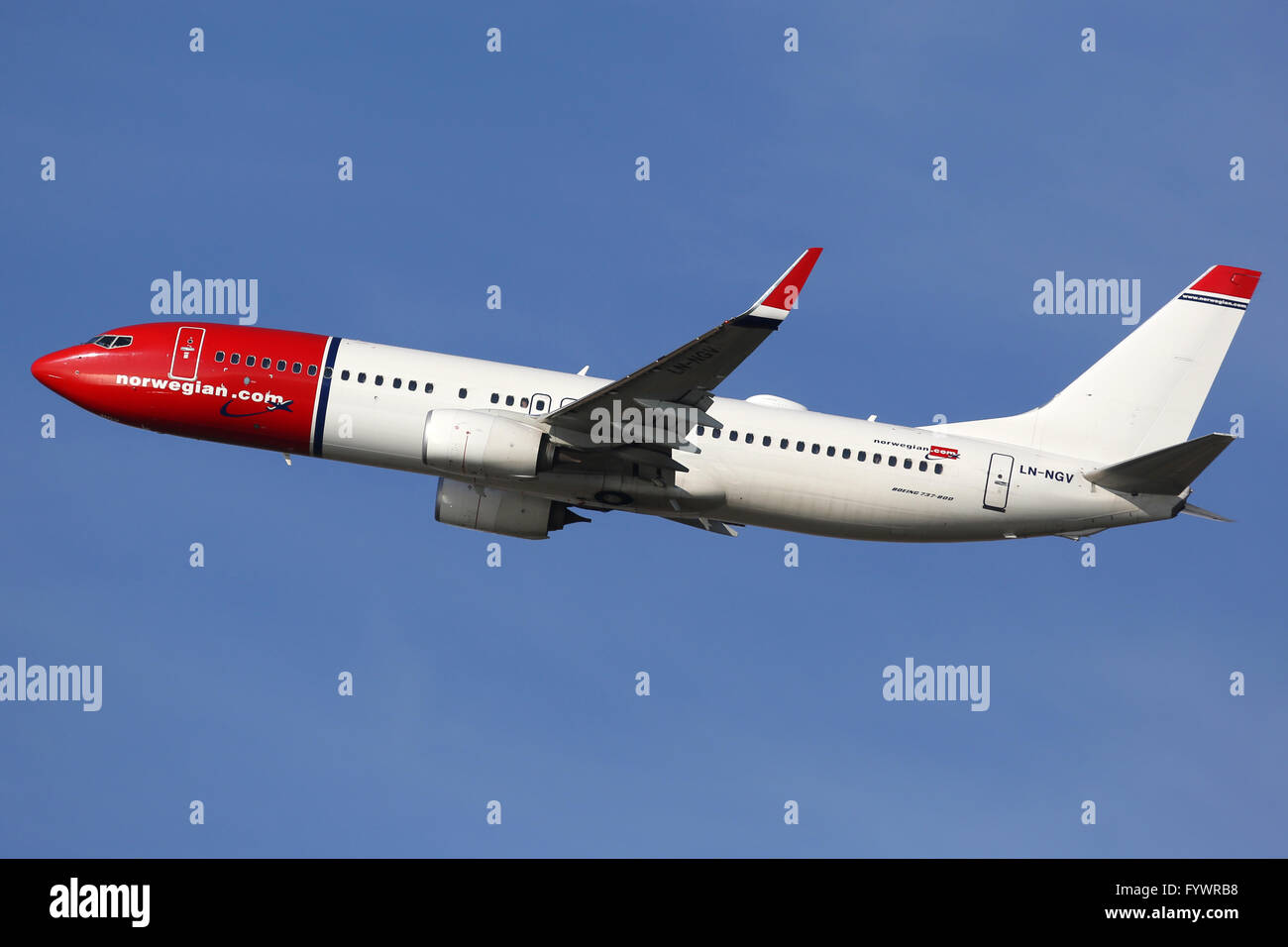 Norwegian Air Shuttle Boeing 737-800 Flugzeug Stockbild