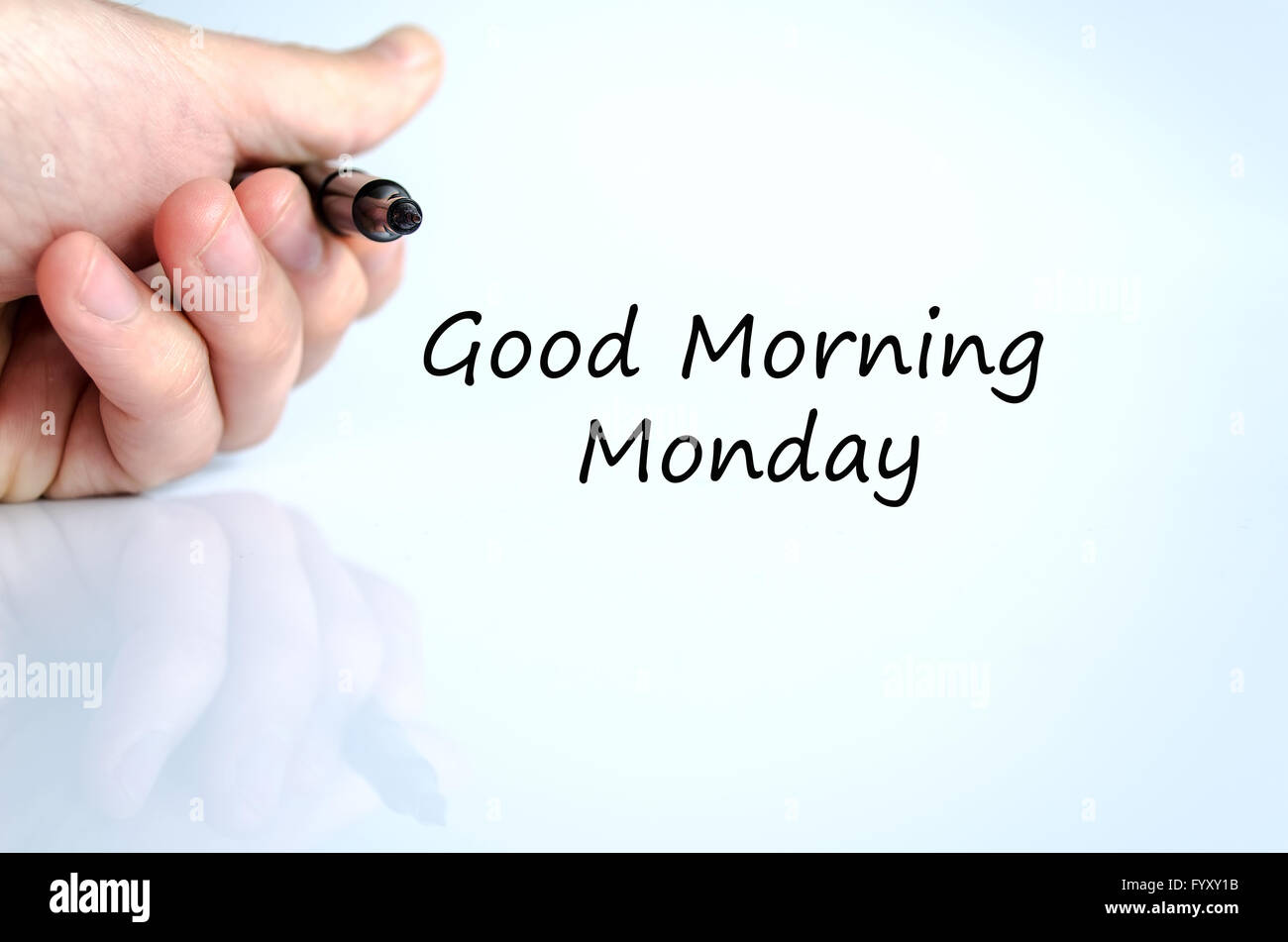Guten Morgen Montag Textkonzept Stockfoto Bild 103239511 Alamy