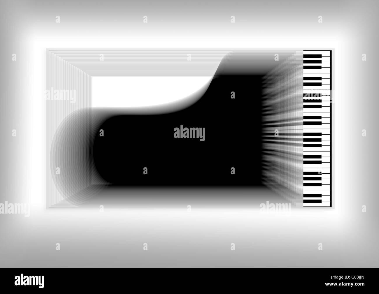 Abstrakt-Klavier Stockbild