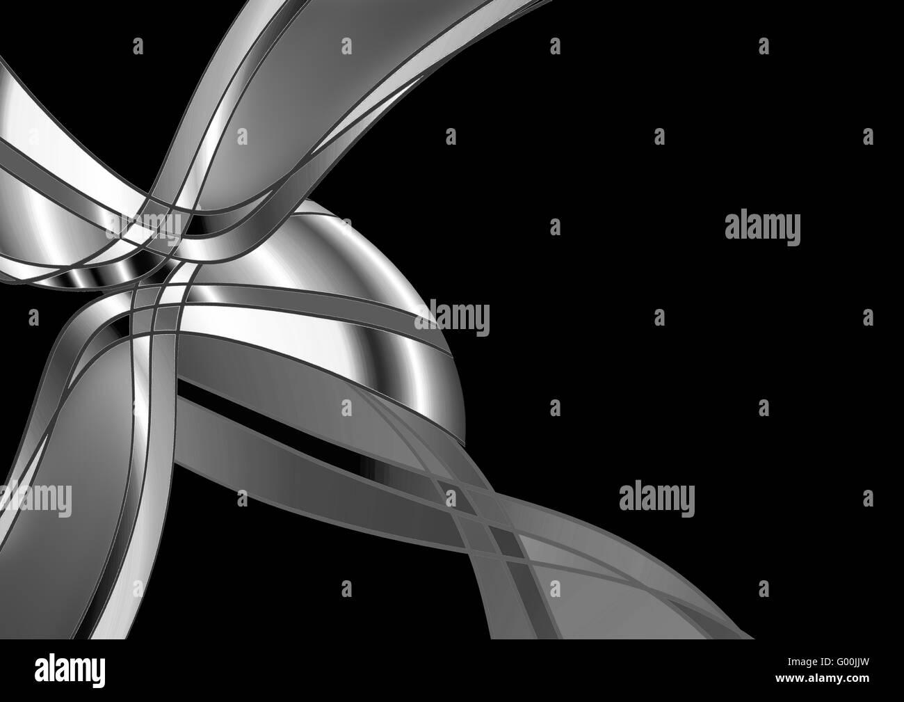 Abstrakt-Silber Stockbild