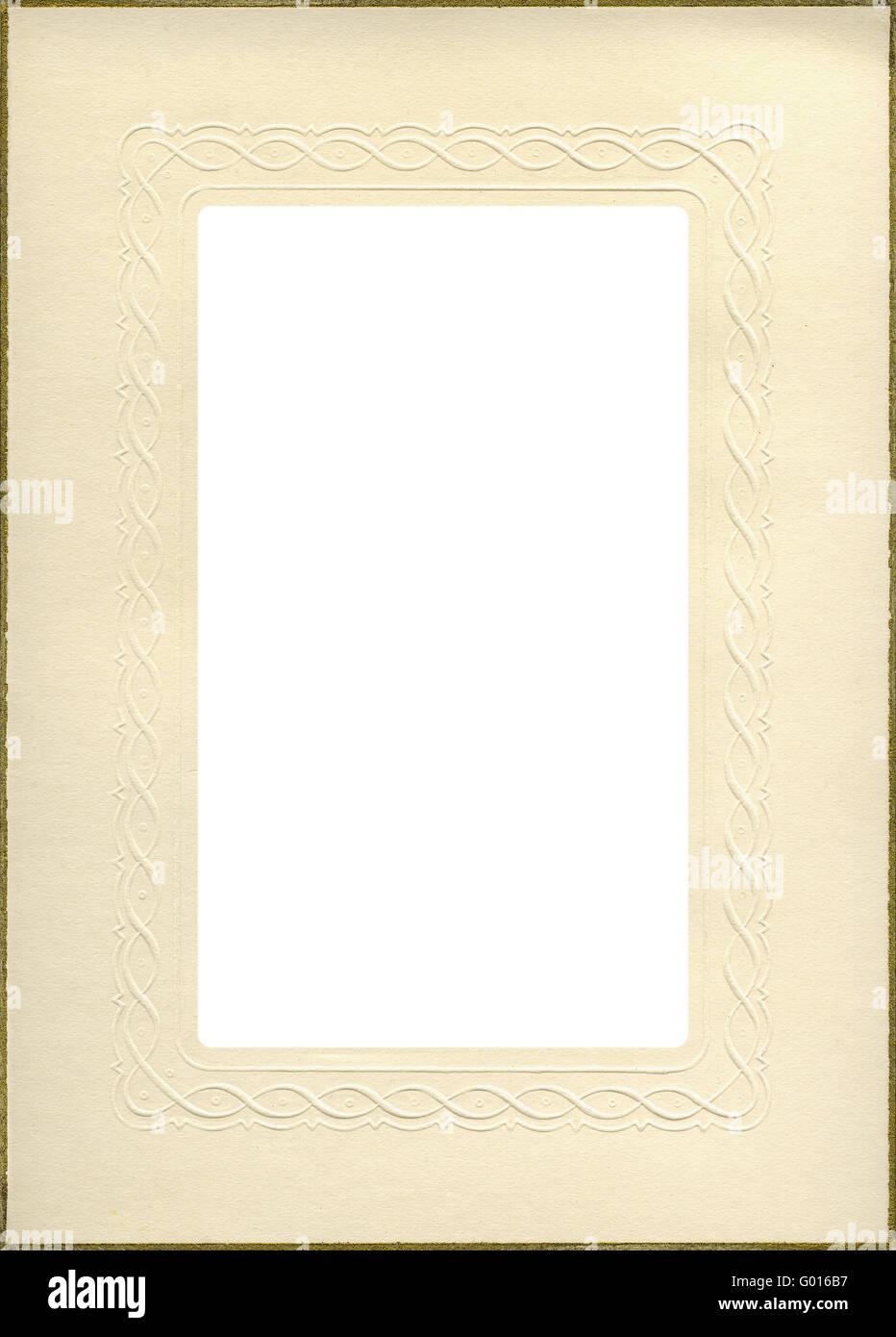 Vintage-Papier Rahmen Stockfoto, Bild: 103289179 - Alamy