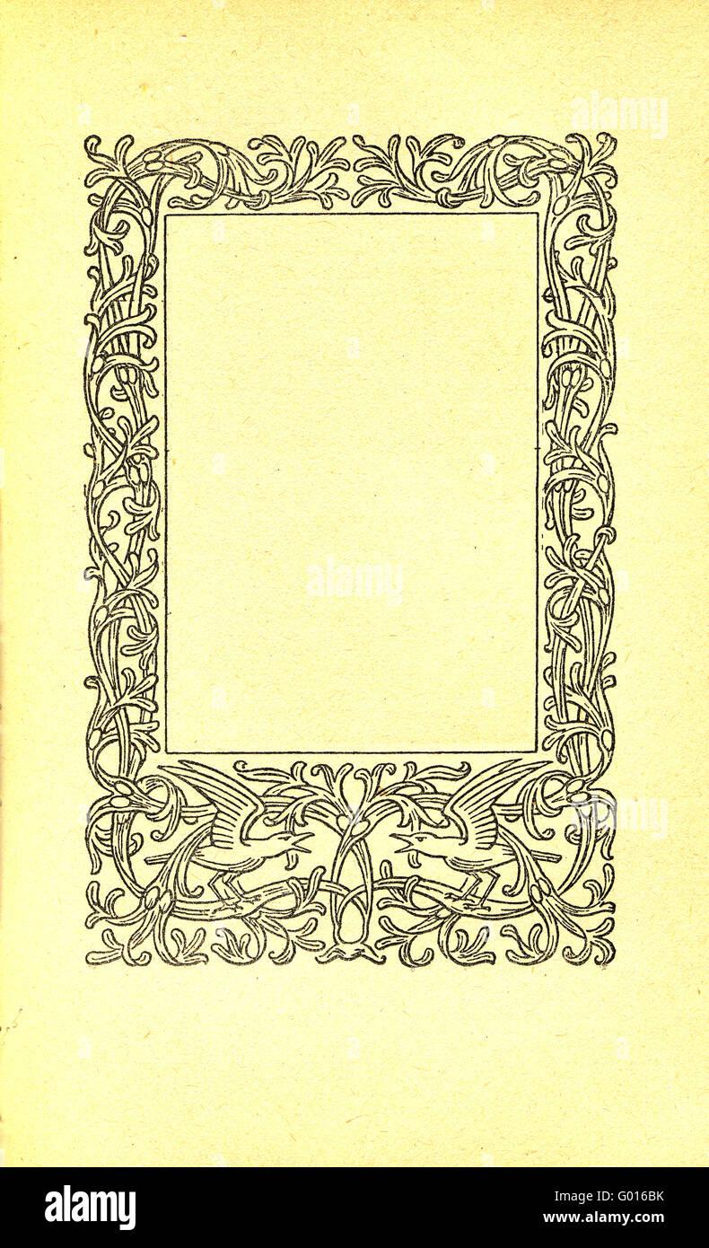 Vintage-Papier Rahmen Stockfoto, Bild: 103289191 - Alamy