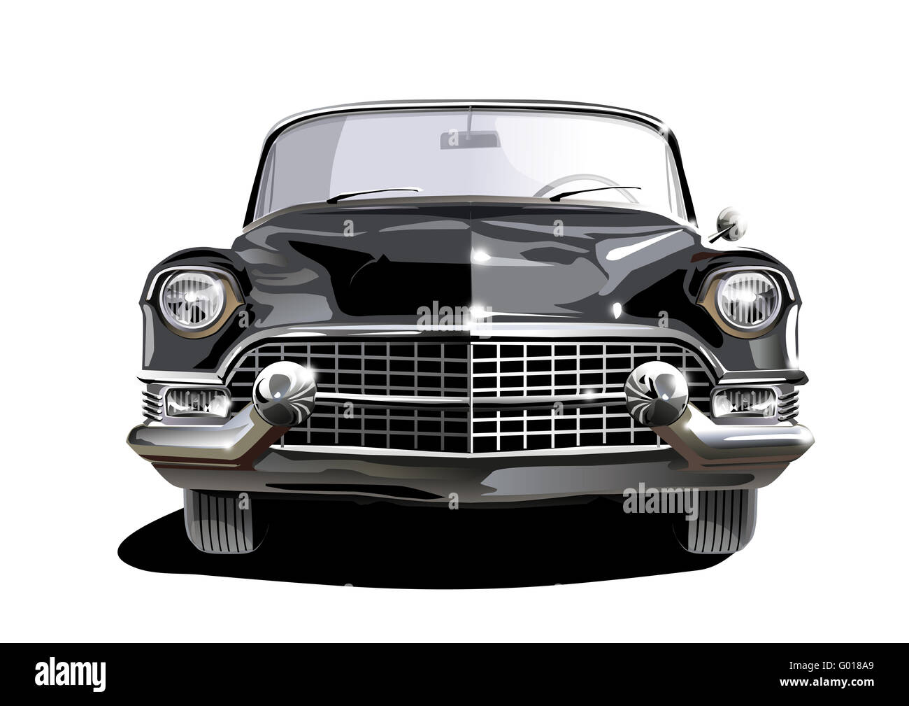Black Cadillac Stockbild