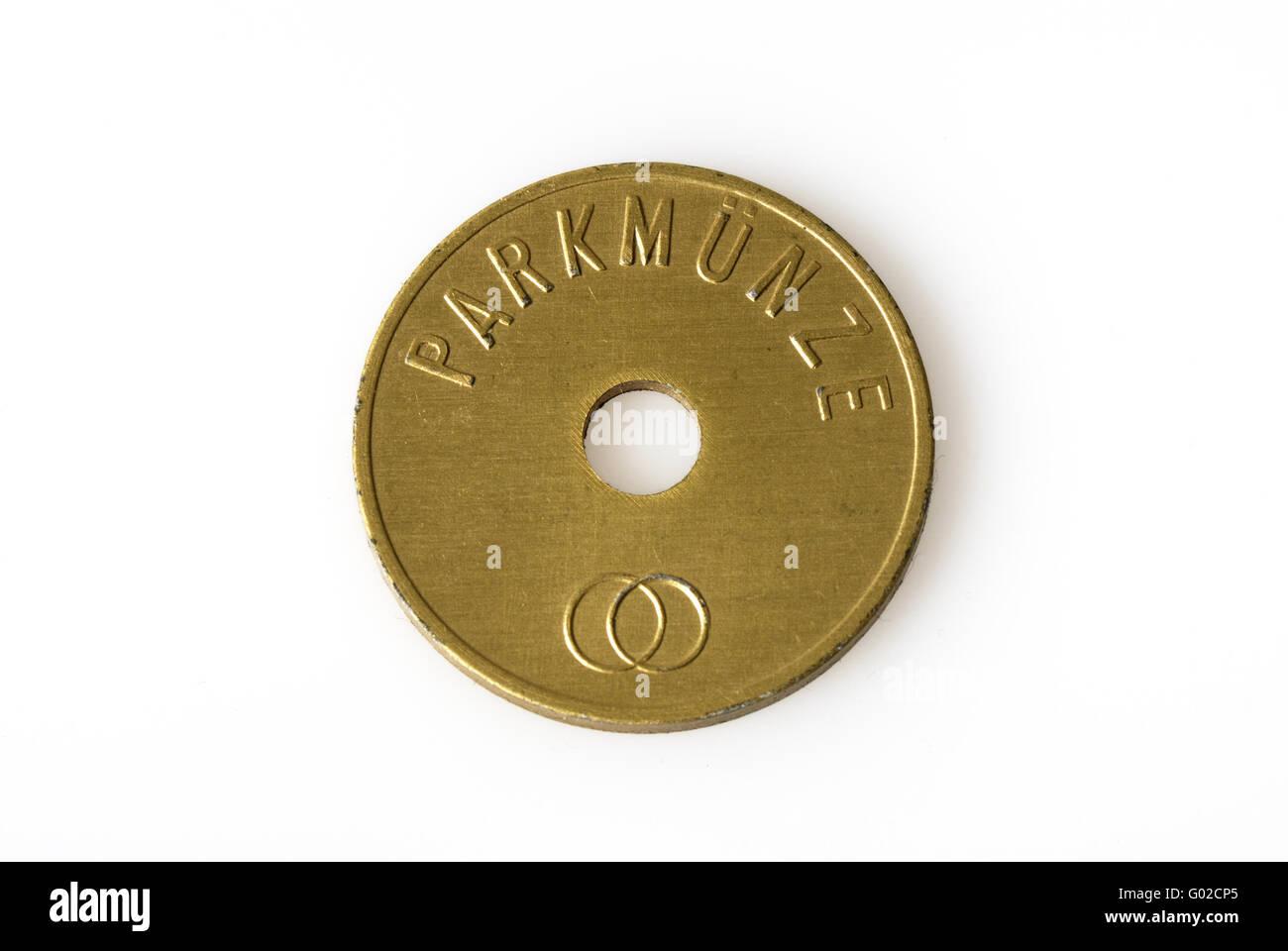Park-Münze von dem Standesamt der Stadt Köln Stockbild
