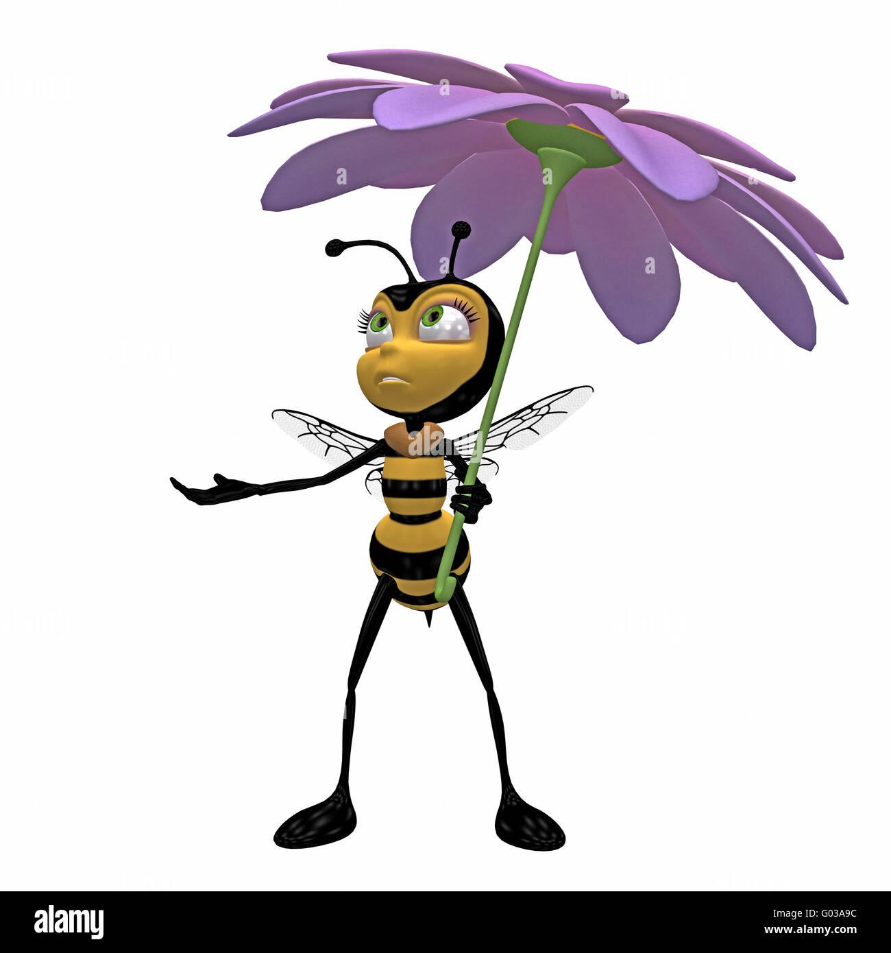 Bee toon Stockbild