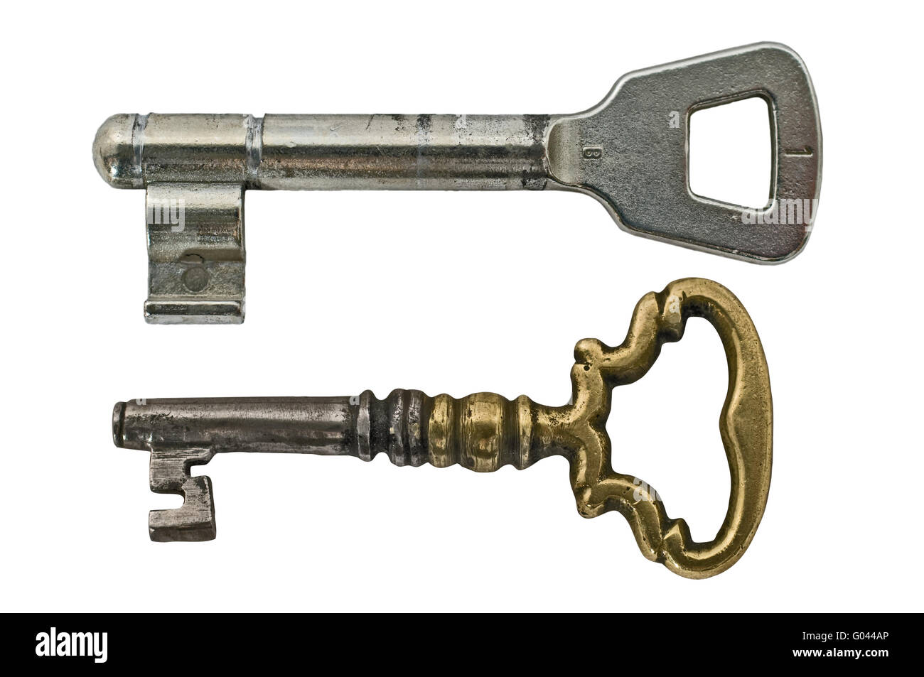 Alte und neue Schlüssel Stockbild