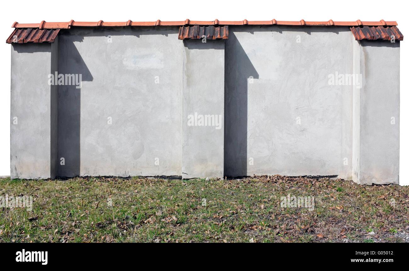 Fragment Der Alten Backstein Verputzt Wand Mit Einer Roten Ziegel. Isoliert  Mit Patch Stockbild