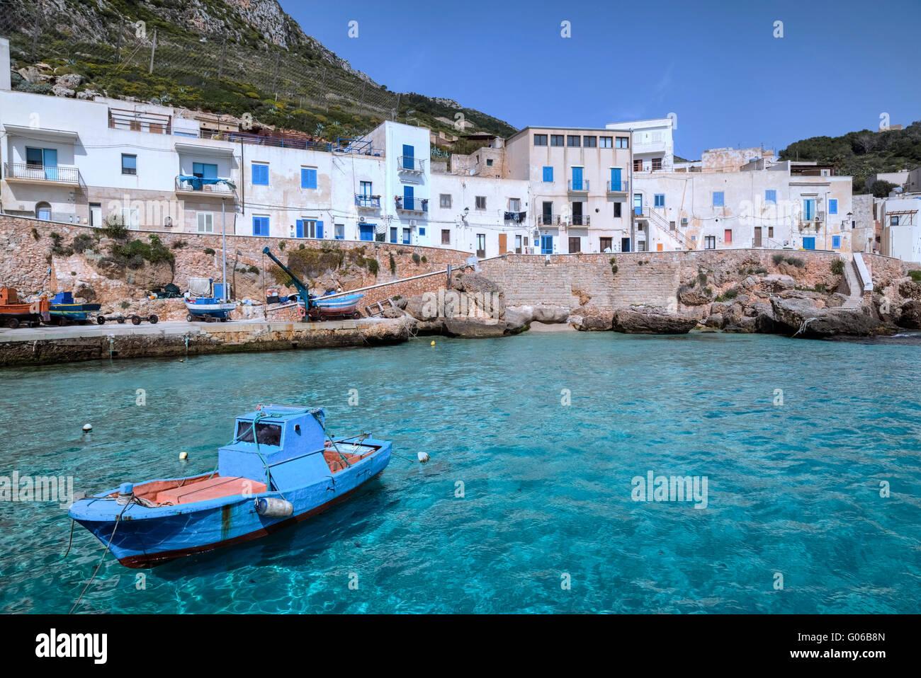 Levanzo, Ägadischen Inseln, Trapani, Sizilien, Italien Stockbild