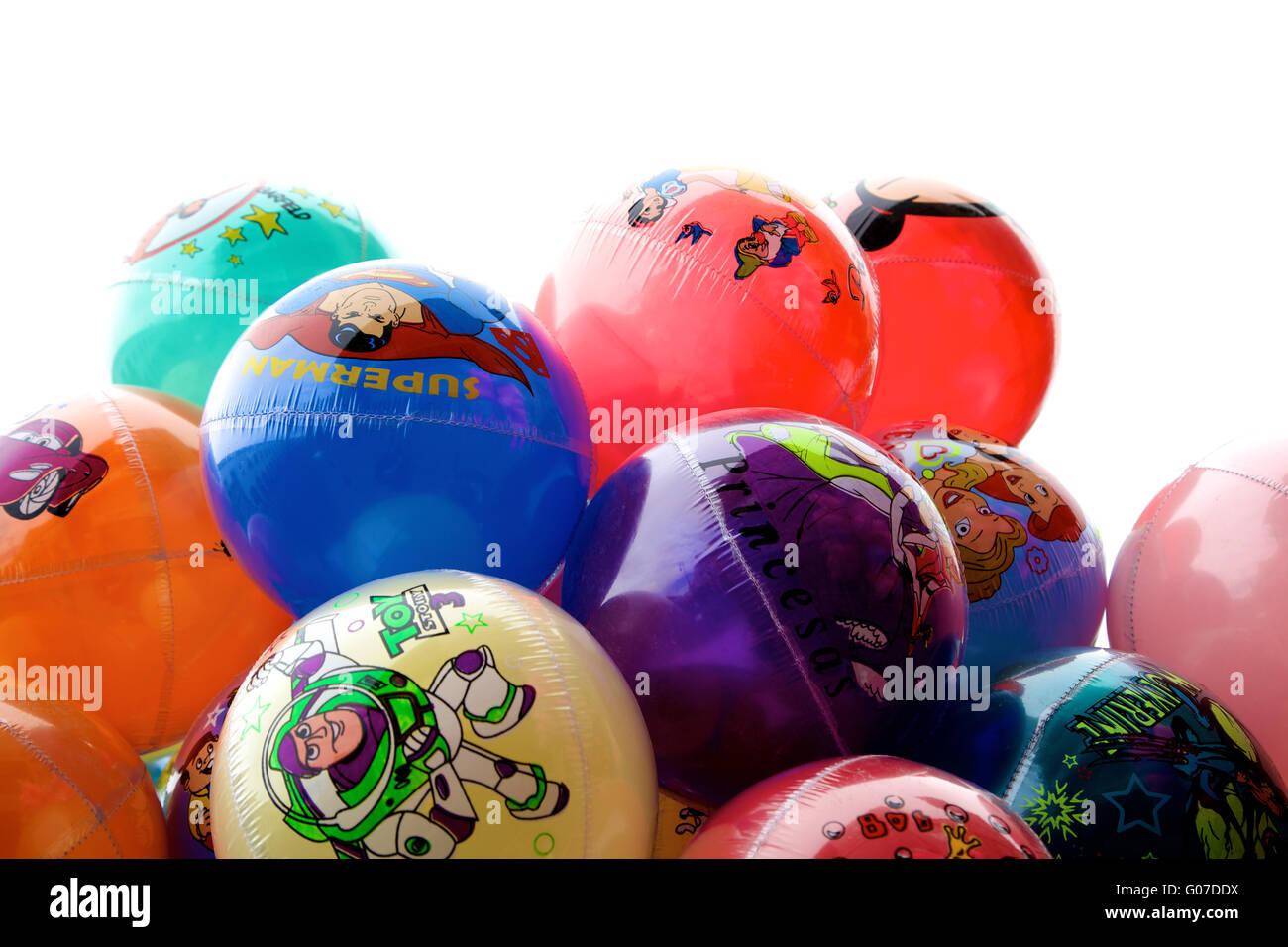 Ballons in Aguascalientes, Mexiko Stockbild