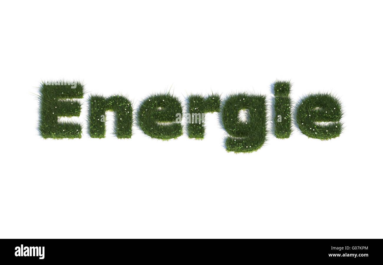 Energie: Serie Schriftarten aus realistischen Grass Sprache G (Energie) Stockbild