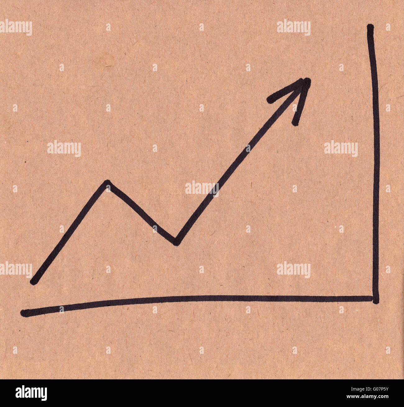 Pfeil-Wachstum. Stockfoto