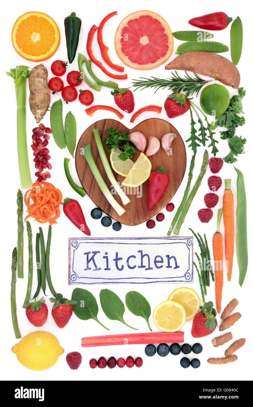 Altsteinzeit super Gesundheit Essen von Obst und Gemüse auf einem ...