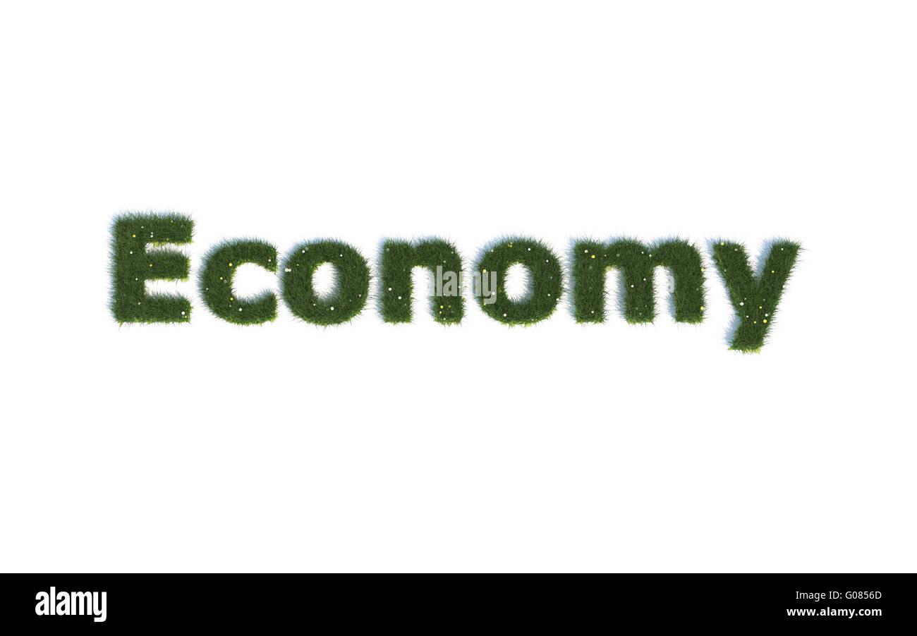 Wirtschaft: Serie Schriftarten aus realistischen grass Sprache E Stockbild