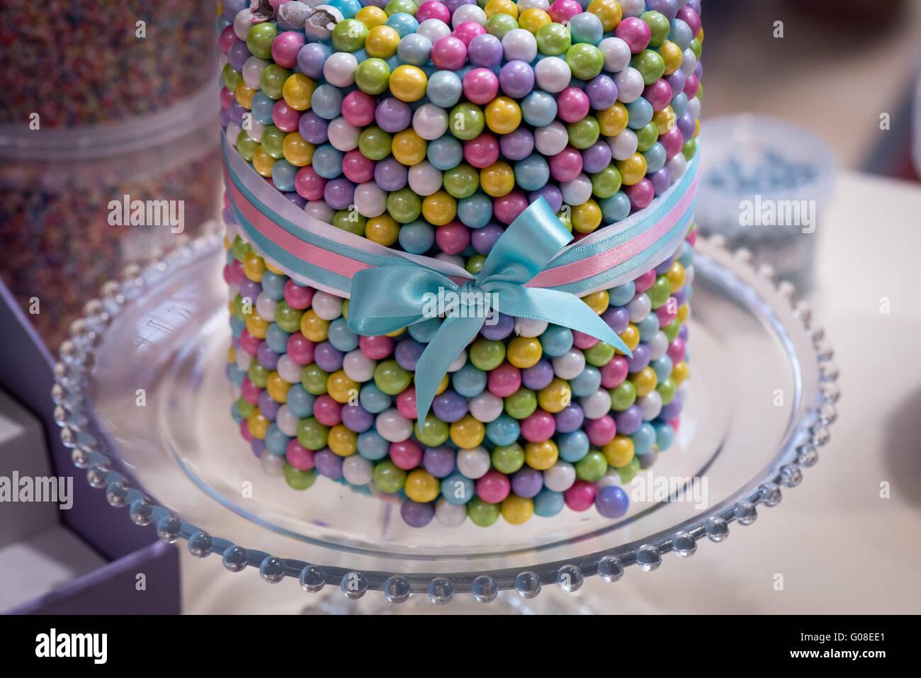 Essbare Zucker Schokolade Perlen Geburtstagskuchen Kuchen