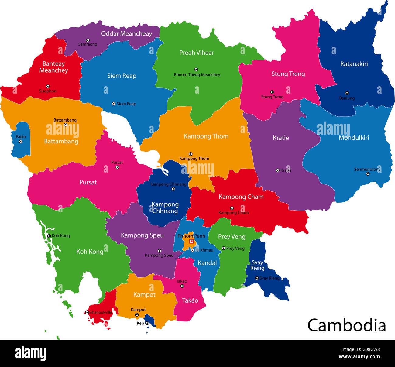 Kambodscha Karte.Kambodscha Karte Stockfoto Bild 103451076 Alamy