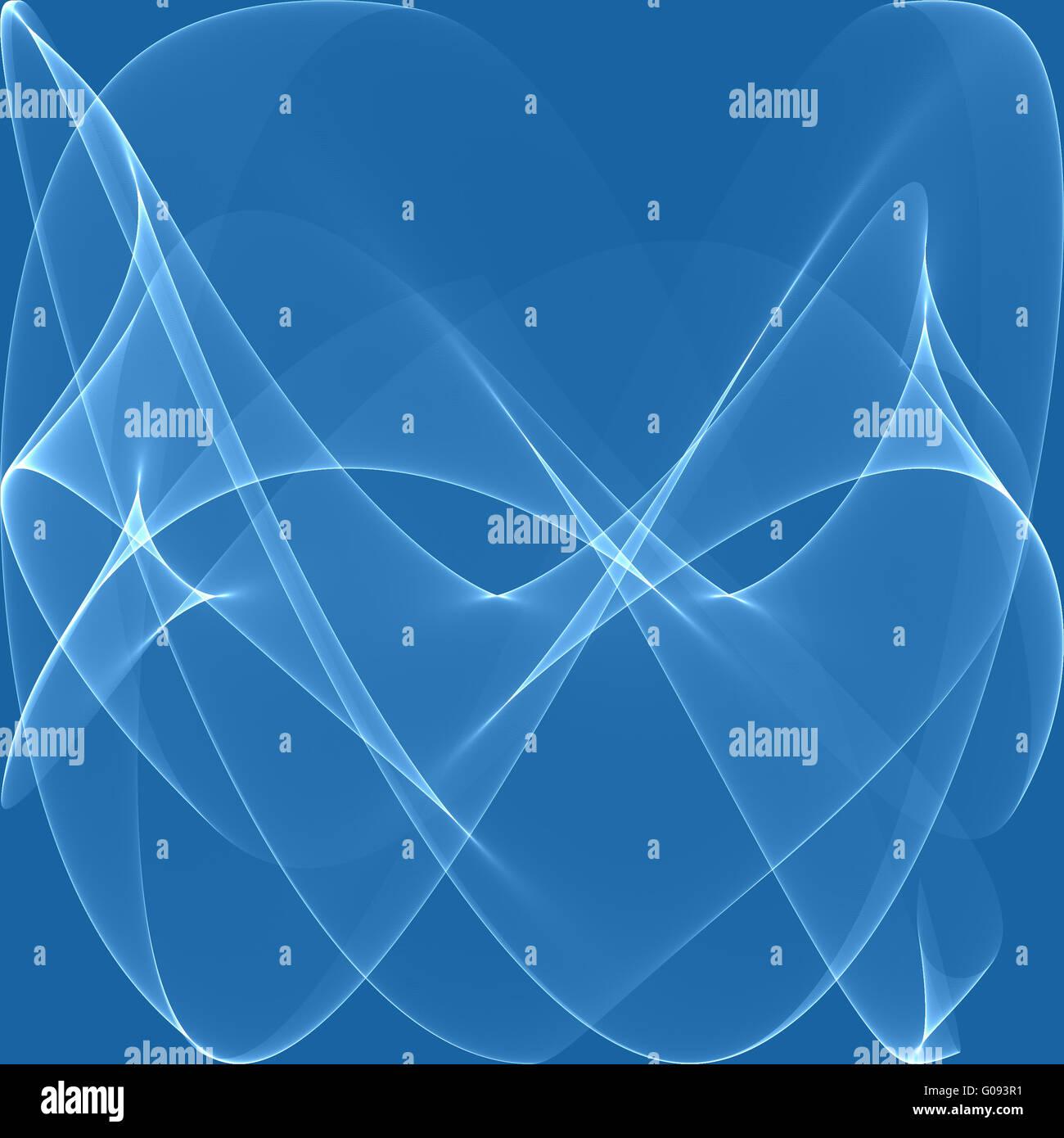 Blaue Wellen als schönen abstrakten Hintergrund Stockbild