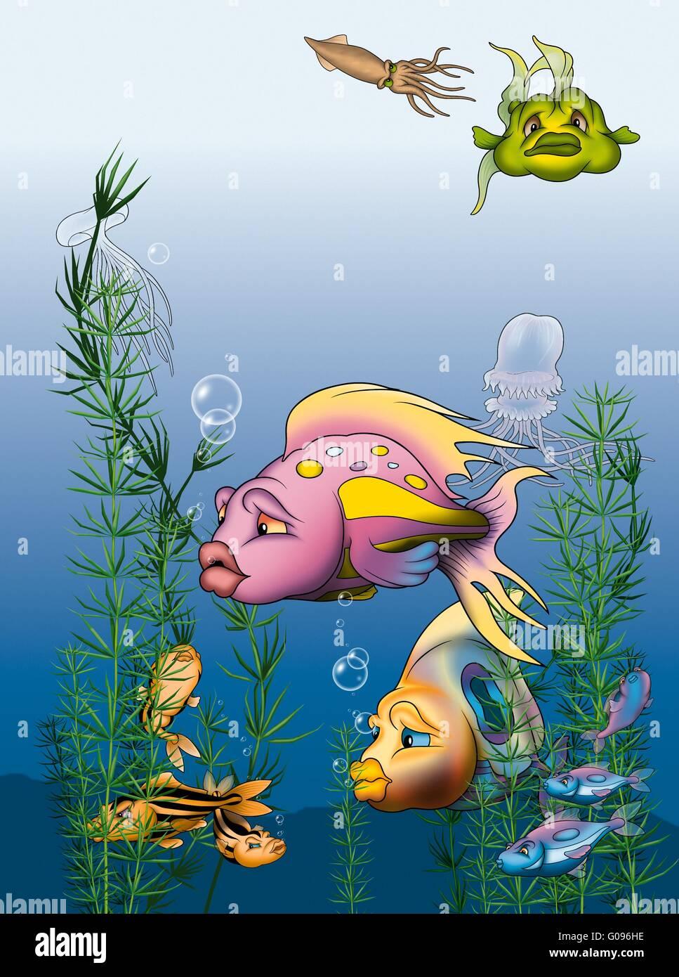 Fisch-Welt Stockbild