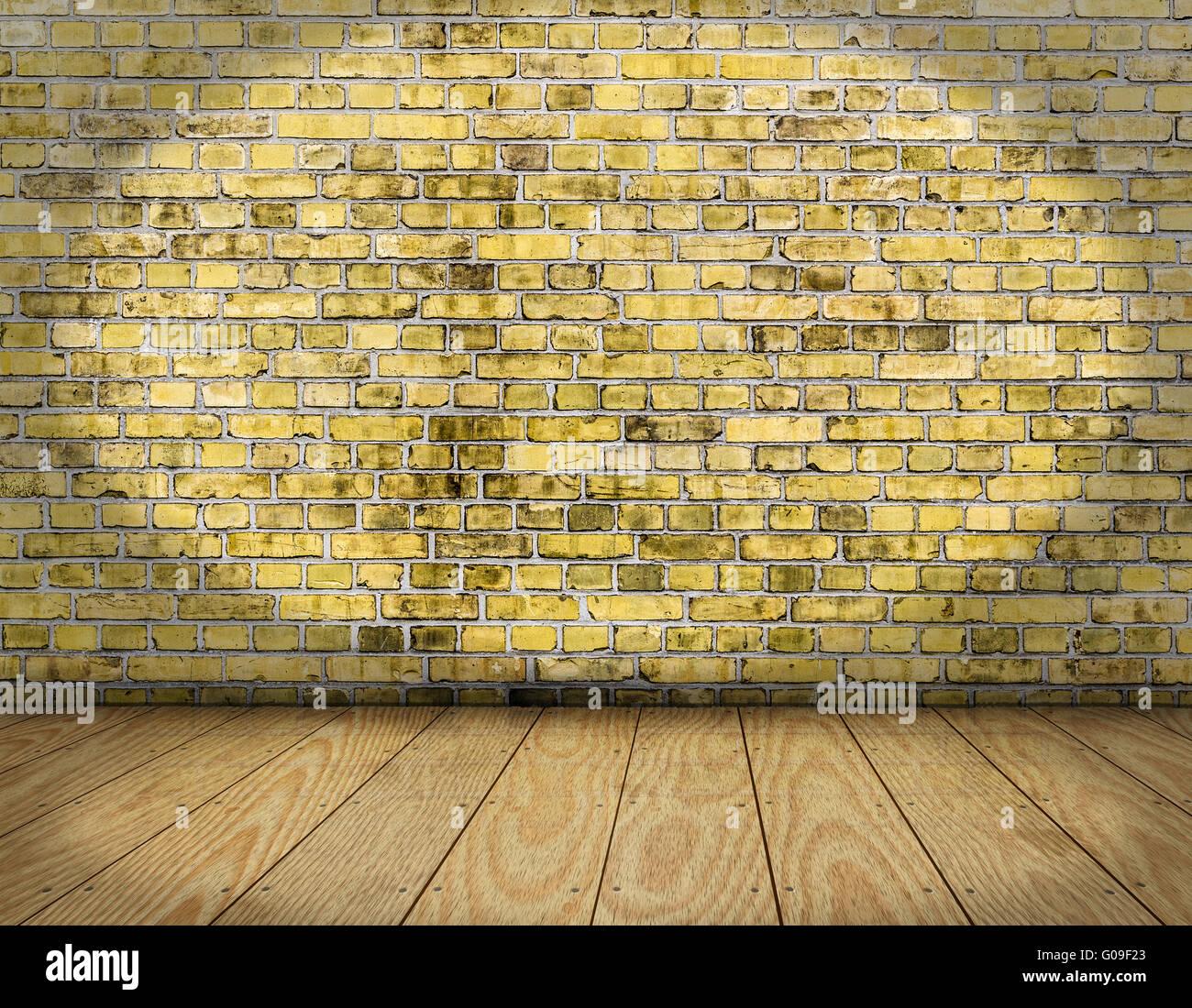 Backsteinwand Innen zimmer innen jahrgang mit gelbem backstein wand und holz boden