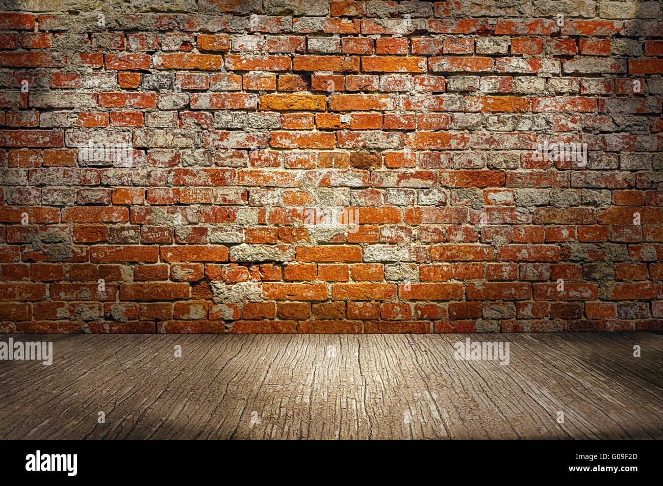 Backsteinwand Innen zimmer innen jahrgang mit rotem backstein wand und holz boden