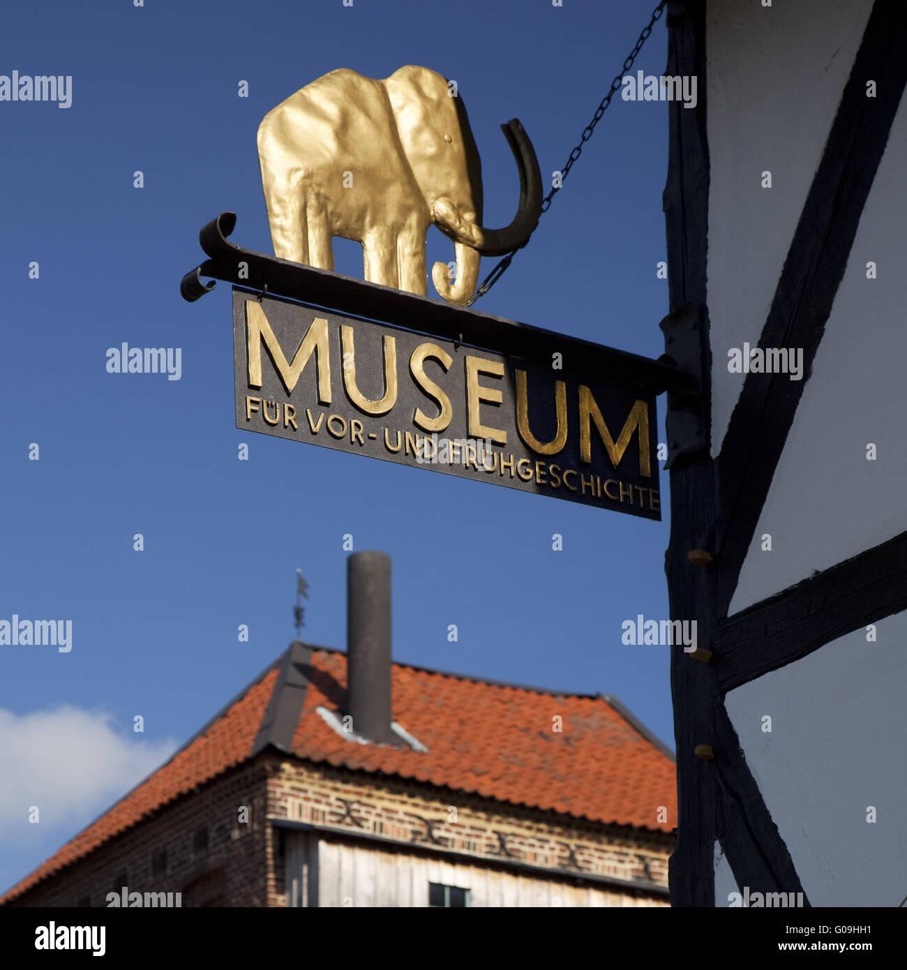 Museum für Ur- und Frühgeschichte in Balve. Stockbild