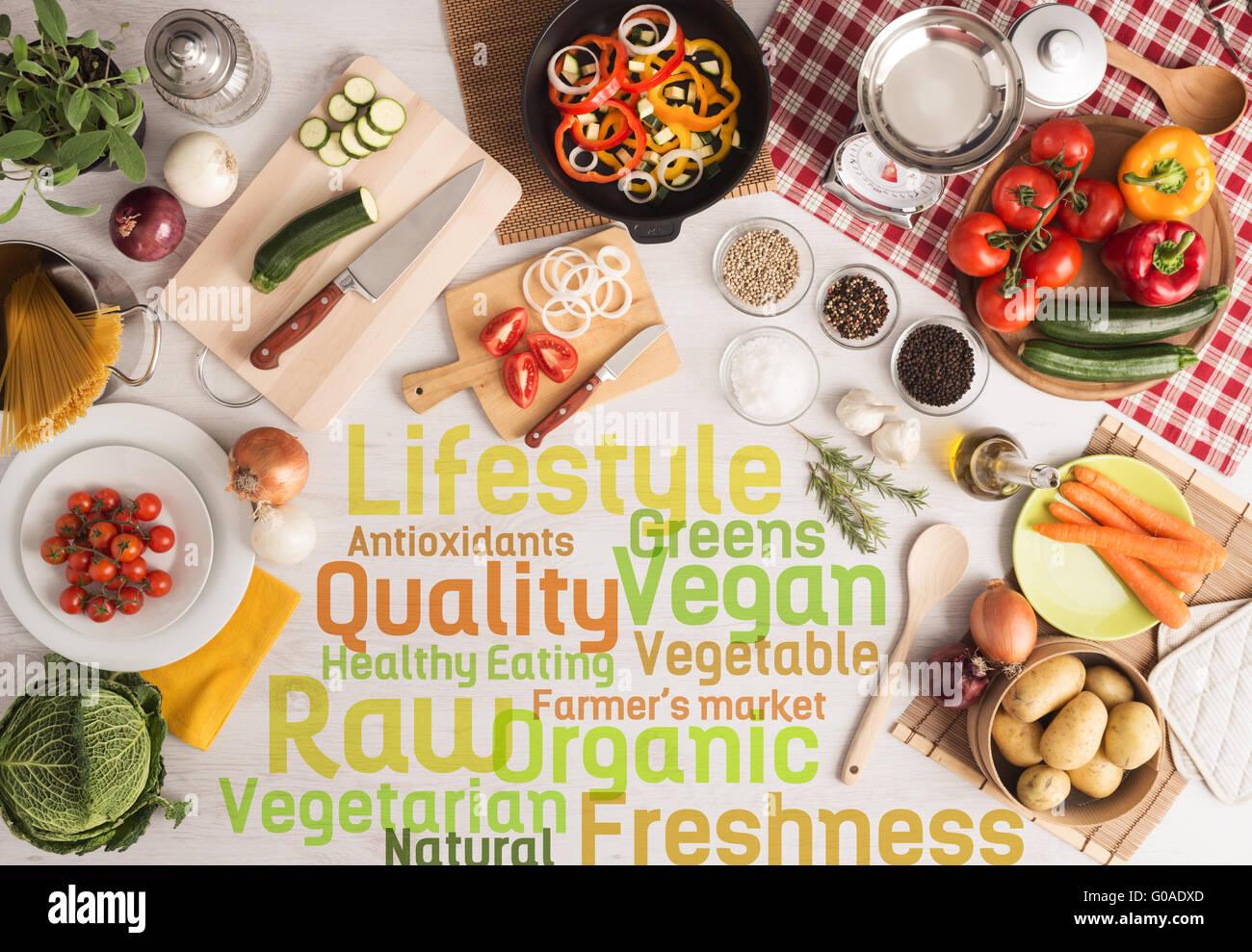 Antioxidans hacken Balance Board bunte Konzept Konzepte und Ideen Kochen Delicious Diät Diät essen Essen Stockbild