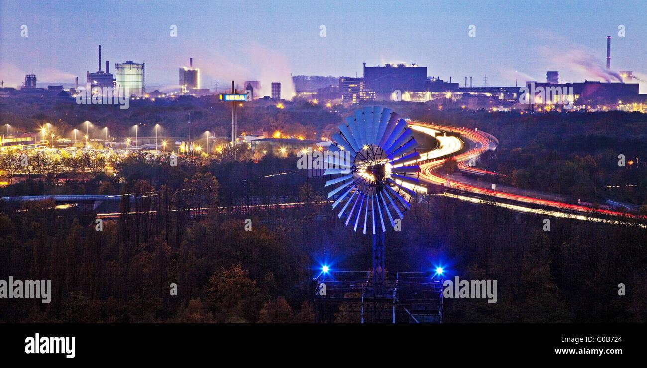 Windmühle Norden Duisburg Landschaftspark, Deutschland Stockbild