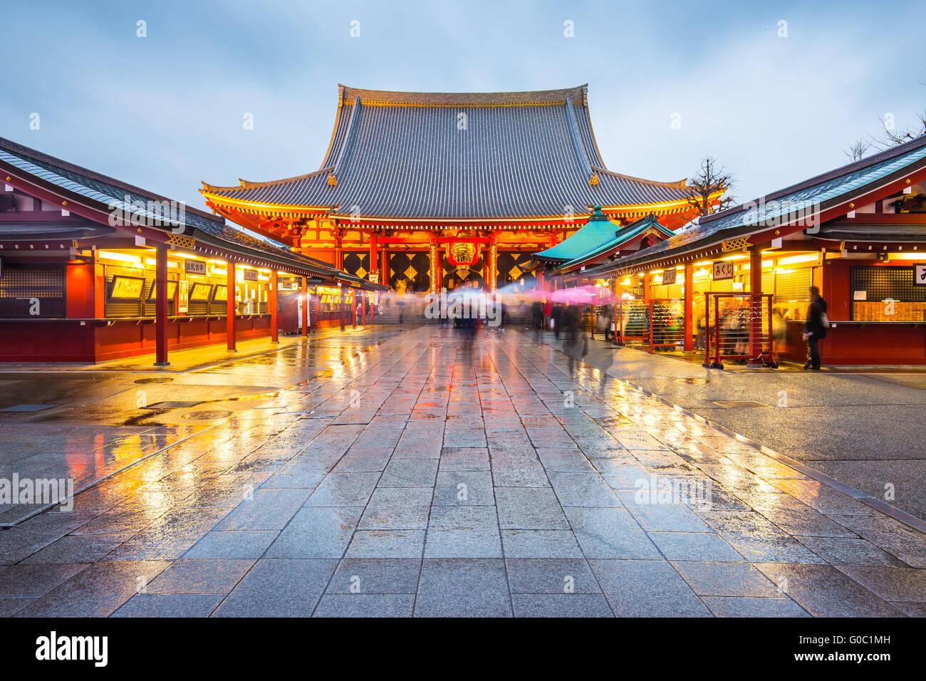 Sensoji in Tokio, Japan Stockbild